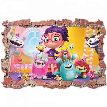 3D Sticker perete 60x90cm -Abby Hatcher
