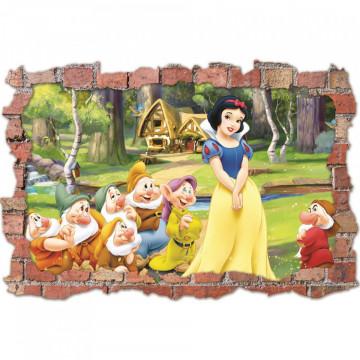 3D Sticker perete 60x90cm - Alba ca Zapada