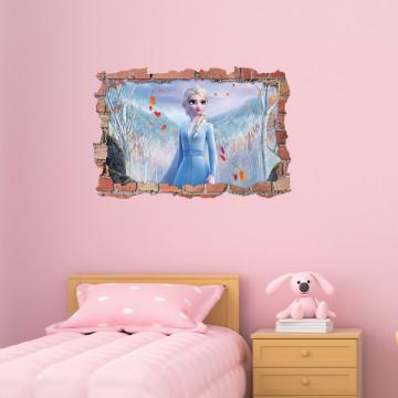 3D Sticker perete 60x90cm - Elsa Frozen