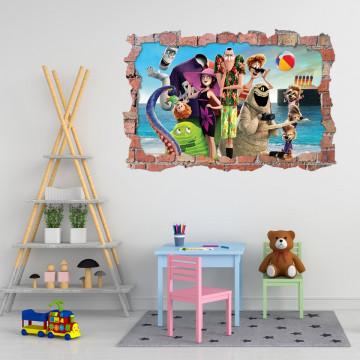 3D Sticker perete 60x90cm - Hotel Transilvania 3