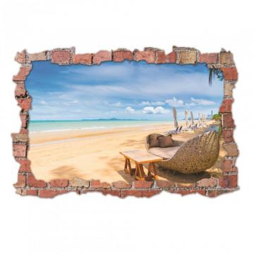 3D Sticker perete 60x90cm - Plaja