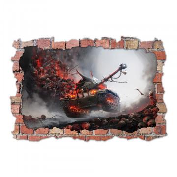 3D Sticker perete 60x90cm - Word of Tanks