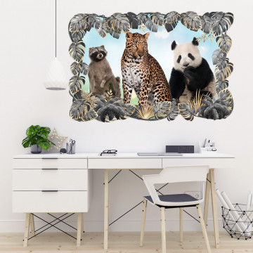 3D Sticker perete - Animale salbatice10