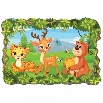 3D Sticker perete - Animale salbatice41