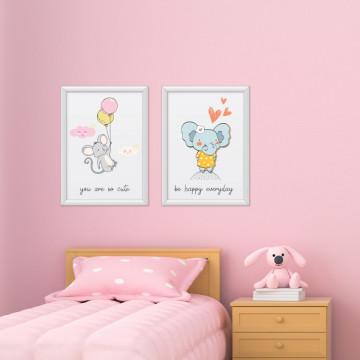 Set 2 tablouri - Soricelul&Elefantul
