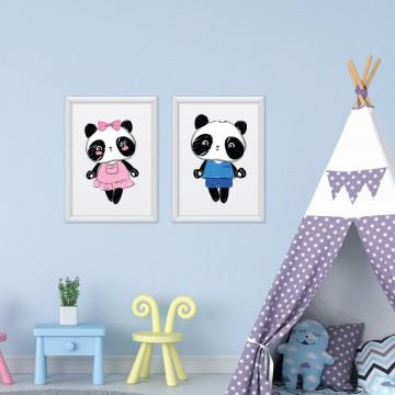Set 2 tablouri - Ursuletii Panda