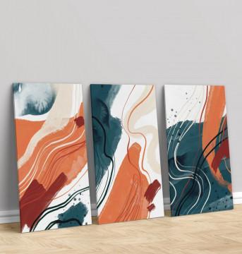 Set 3 Tablouri Canvas, Splash colour