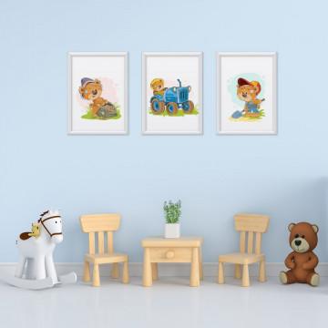 Set 3 tablouri - Ursuletii Fermieri