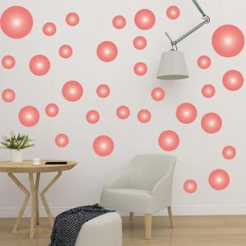 Set stickere decorative perete - Cercuri10, 60x60cm