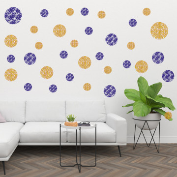 Set stickere decorative perete - Cercuri5, 60x60cm