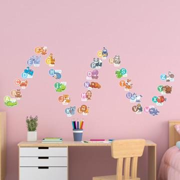 Set stickere decorative perete copii - Alfabetul in engleza2 , 60x60 cm