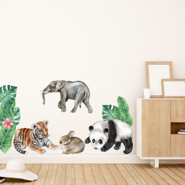 Set stickere decorative perete copii - Woodland2, 60x90cm