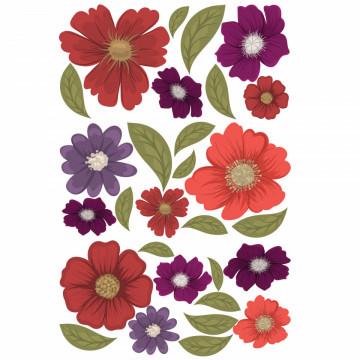 Set stickere decorative perete - Flori 5, 60x90cm