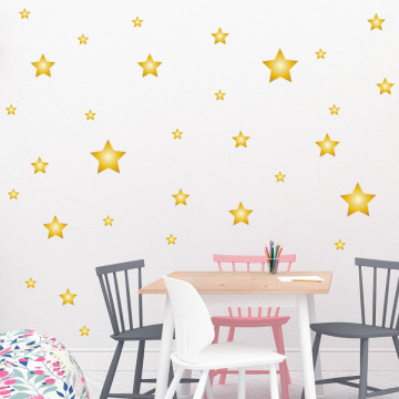 Set stickere decorative perete - Stelute 2, 60x60cm
