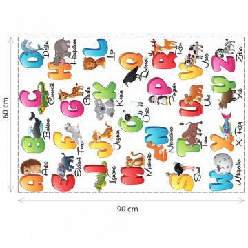 Stickere Educationale copii - Alfabet, set 60x90cm