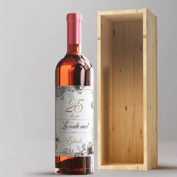 Sticla vin Personalizata - Numar de ani, mesaj si nume