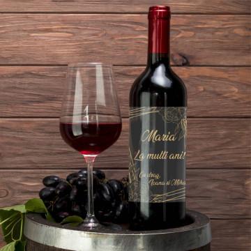 Sticla vin Personalizata - Nume si mesaj