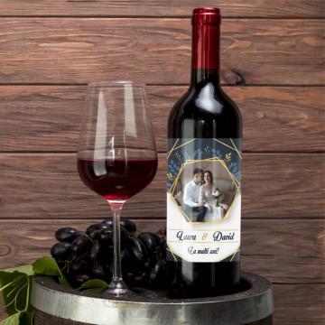 Sticla vin Personalizata - Poza, nume si text