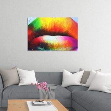 Tablou Canvas, Buze pictate