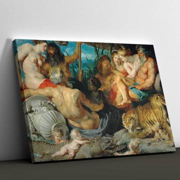 Tablou Canvas, Cele patru continente de Peter Paul Rubens