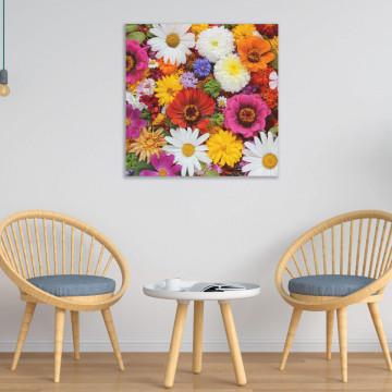 Tablou Canvas, Flori multicolore