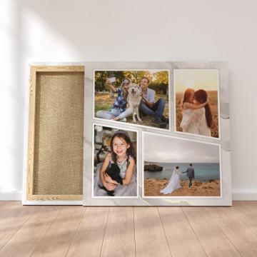 Tablou Canvas personalizat cu patru poze