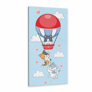 Tablou Canvas, Pisicutele cu balon