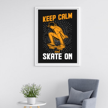 Tablou - Keep calm and skate on