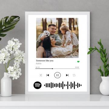 "Tablou personalizat ""Melodia noastra"", cod Spotify"