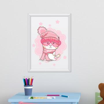 Tablou - Pisicuta cu ochelari