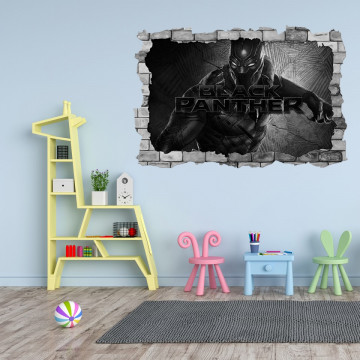 3D Sticker perete 60x90cm - Black Panther