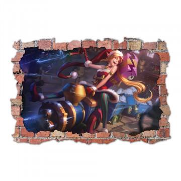 3D Sticker perete 60x90cm - League of Legends3