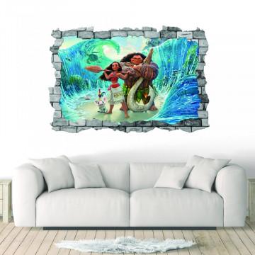 3D Sticker perete 60x90cm - Moana