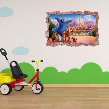 3D Sticker perete 60x90cm -Parcul aventurilor