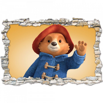 3D Sticker perete 60x90cm - Peripetiile lui Paddington
