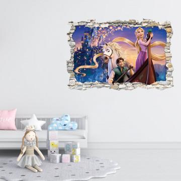 3D Sticker perete 60x90cm - Rapunzel