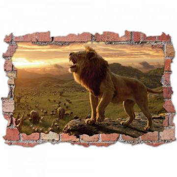 3D Sticker perete 60x90cm - Regele leu