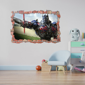 3D Sticker perete 60x90cm -  Transformers Optimus Prime