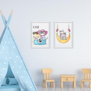 Set 2 tablouri - Pisicutele