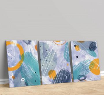 Set 3 Tablouri Canvas, Circles