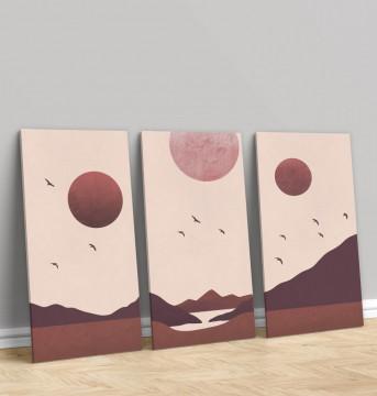 Set 3 Tablouri Canvas, Sunset