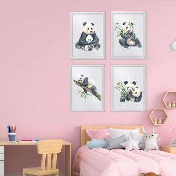 Set 4 tablouri - Ursuletul Panda