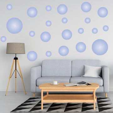 Set stickere decorative perete - Cercuri13, 60x60cm