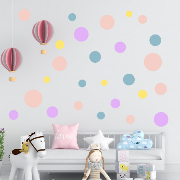 Set stickere decorative perete - Cercuri21, 60x60cm