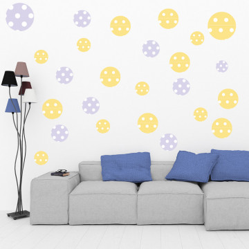 Set stickere decorative perete - Cercuri3, 60x60cm