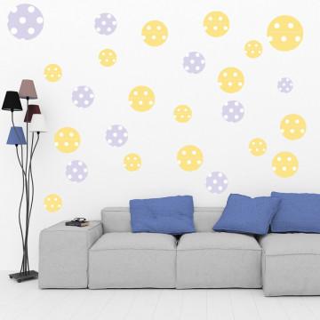 Set stickere decorative perete - Cercuri3, 60x60cm
