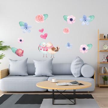 Set stickere decorative perete - Flori 3, 60x90cm