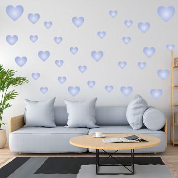 Set stickere decorative perete - Inimioare4, 60x60cm
