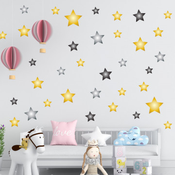 Set stickere decorative perete - Stelute 20, 60x60cm