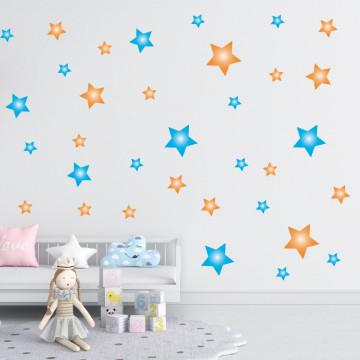 Set stickere decorative perete - Stelute 5, 60x60cm